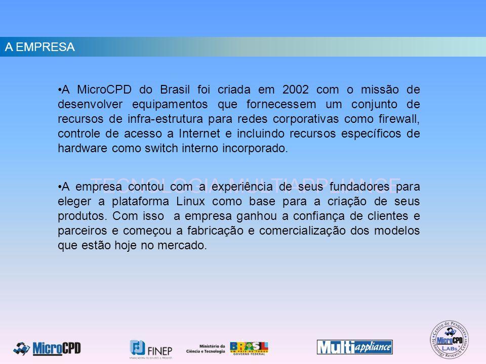 A EMPRESA A MicroCPD do Brasil foi criada em 2002 com o missão de desenvolver equipamentos que fornecessem um conjunto de recursos de infra-estrutura