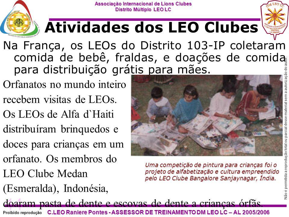 14 Proibido reprodução Associação Internacional de Lions Clubes Distrito Múltiplo LEO LC C.LEO Raniere Pontes - ASSESSOR DE TREINAMENTO DM LEO LC – AL