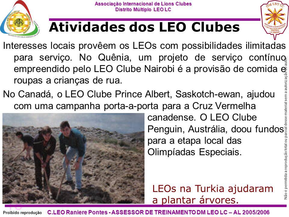 18 Proibido reprodução Associação Internacional de Lions Clubes Distrito Múltiplo LEO LC C.LEO Raniere Pontes - ASSESSOR DE TREINAMENTO DM LEO LC – AL