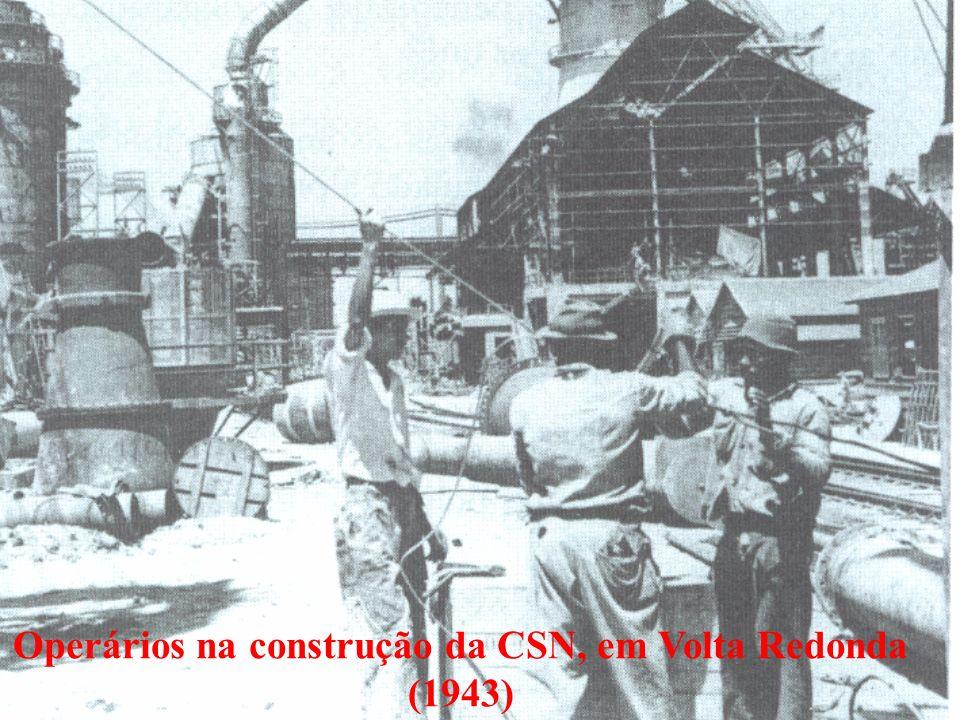 Operários na construção da CSN, em Volta Redonda (1943)