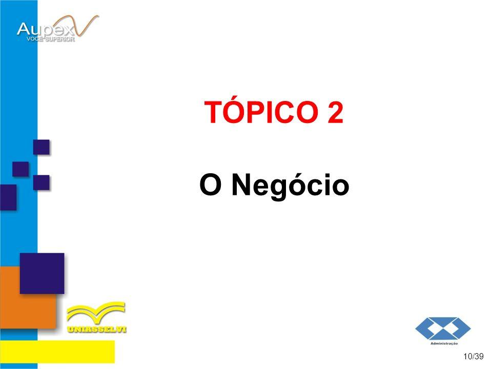 TÓPICO 2 O Negócio 10/39