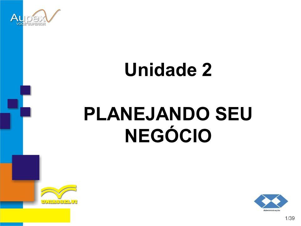 Unidade 2 PLANEJANDO SEU NEGÓCIO 1/39