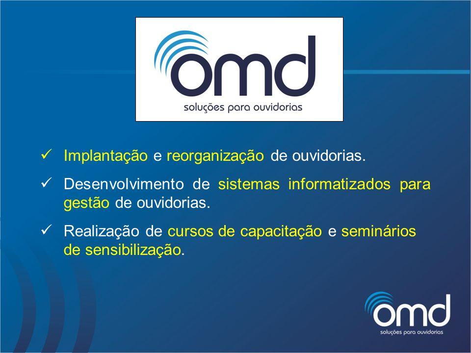 OUTSOURCING Sistema Informatizado para Gestão de Ouvidorias ORGANIZAÇÕES MODERNAS S/A OMD Data Center Disponibilidade Manutenção Atualizações Segurança Suporte Backup