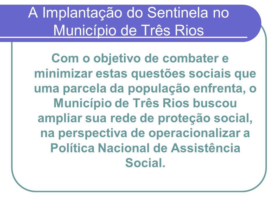 A Implantação do Sentinela no Município de Três Rios Com o objetivo de combater e minimizar estas questões sociais que uma parcela da população enfren