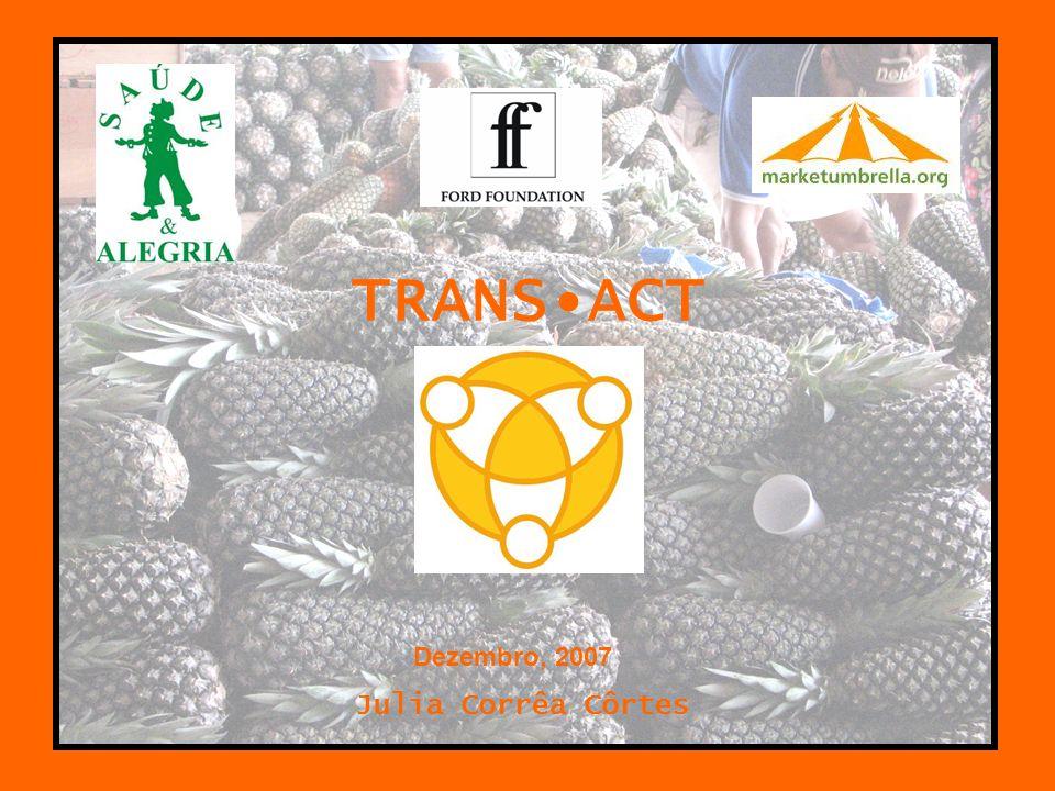 CONTEXTO Projeto transact –PSA X marketumbrella.org –Objetivo –Conceito das áreas de estudo Santarém, Brasil New Orleans, EUA
