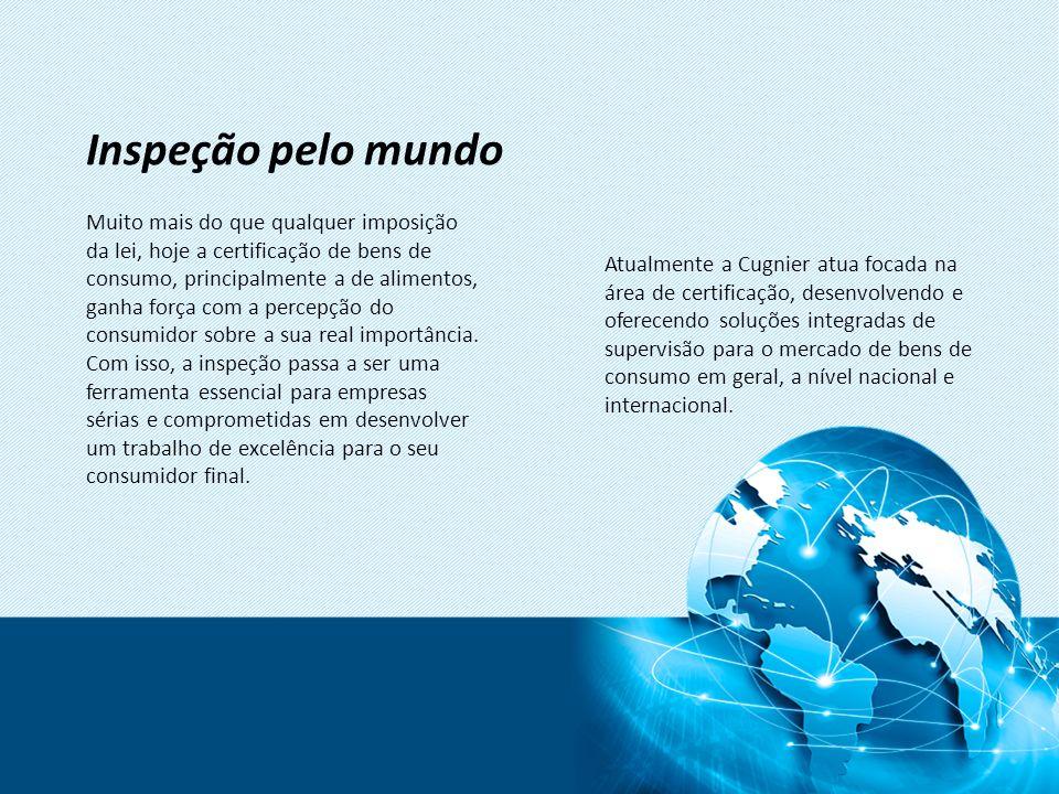 Sistema de Gestão Digital A Cugnier tem um sistema próprio desenvolvido para gerenciar todos os processos de inspeção e certificação em tempo integral.