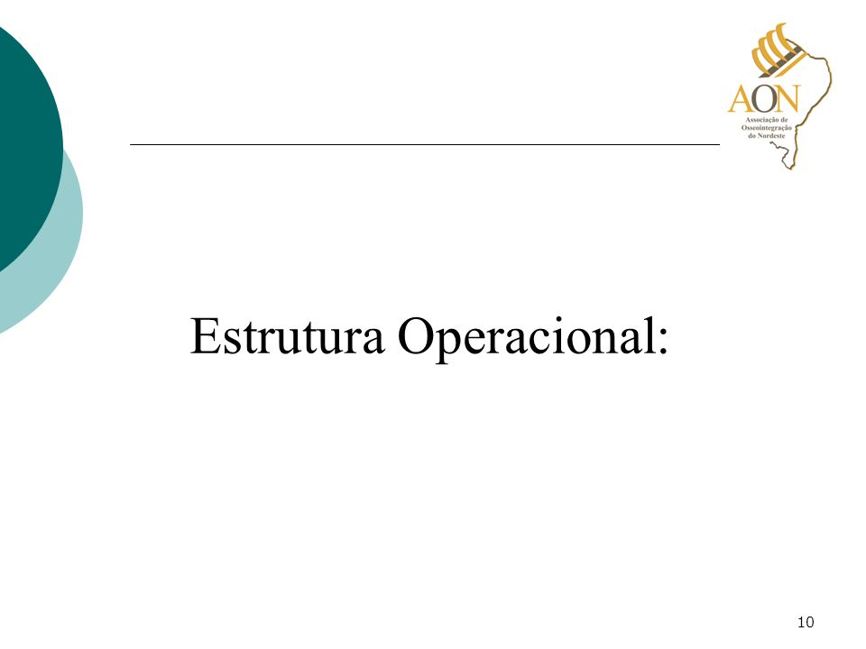 10 Estrutura Operacional:
