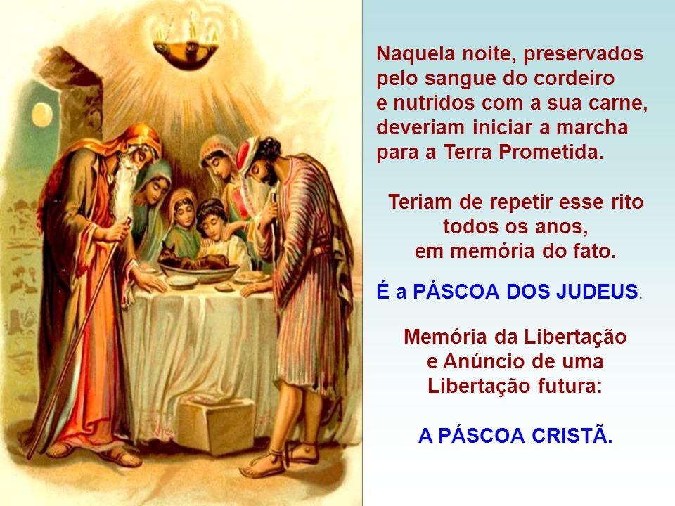 As Leituras bíblicas ilustram a celebração... A 1ª Leitura fala da Instituição da Páscoa Judaica. (Ex 12,1-8.11-14) Deus ordena aos hebreus a imolarem