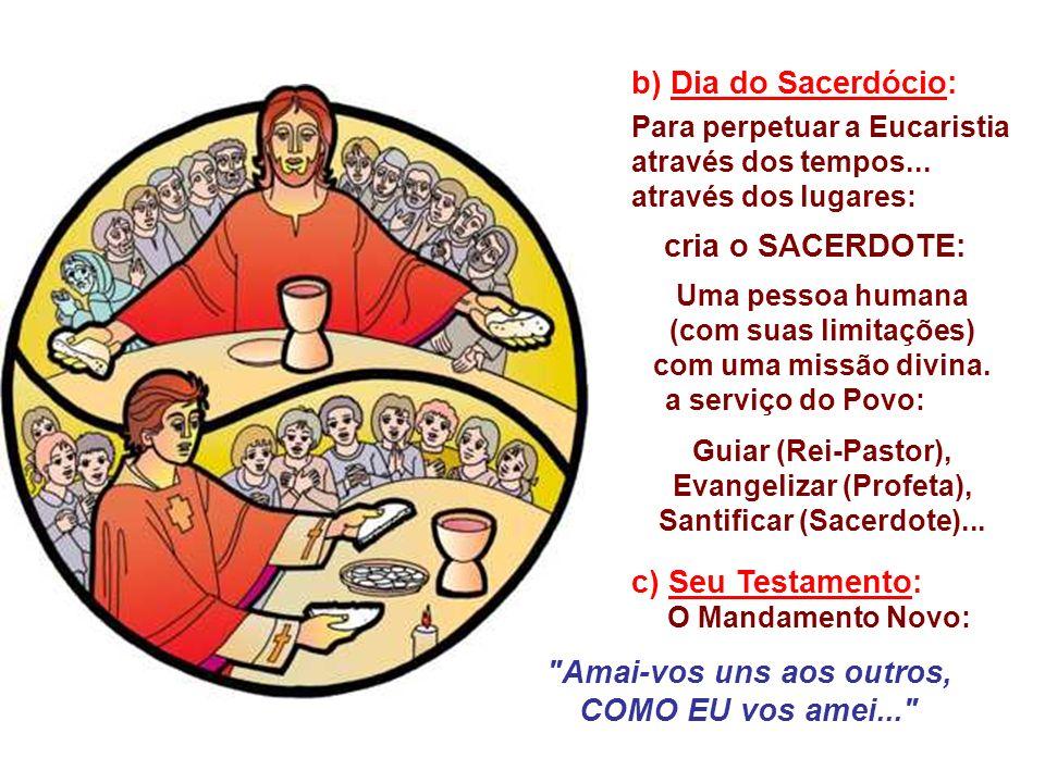 a) É aniversário da Instituição da Eucaristia. -