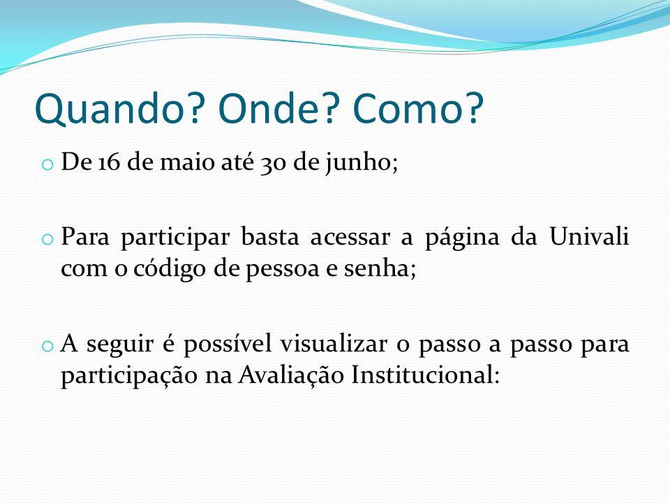 1. Acessar a página da Univali – www.univali.br