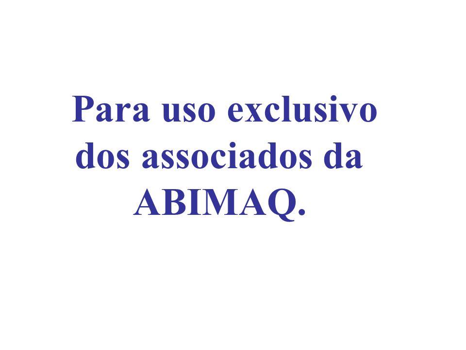 Para uso exclusivo dos associados da ABIMAQ.