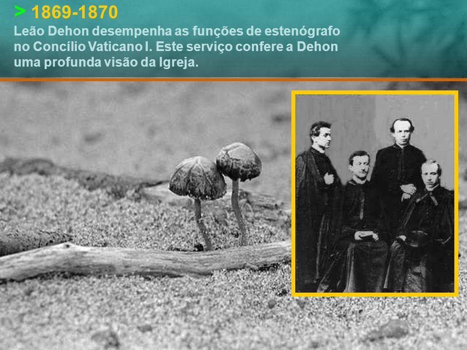 > 19|dezembro|1868 Leão Dehon é ordenado sacerdote na Basílica de S.