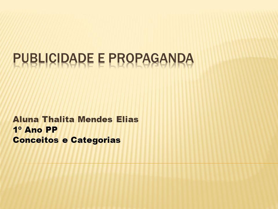 Aluna Thalita Mendes Elias 1º Ano PP Conceitos e Categorias