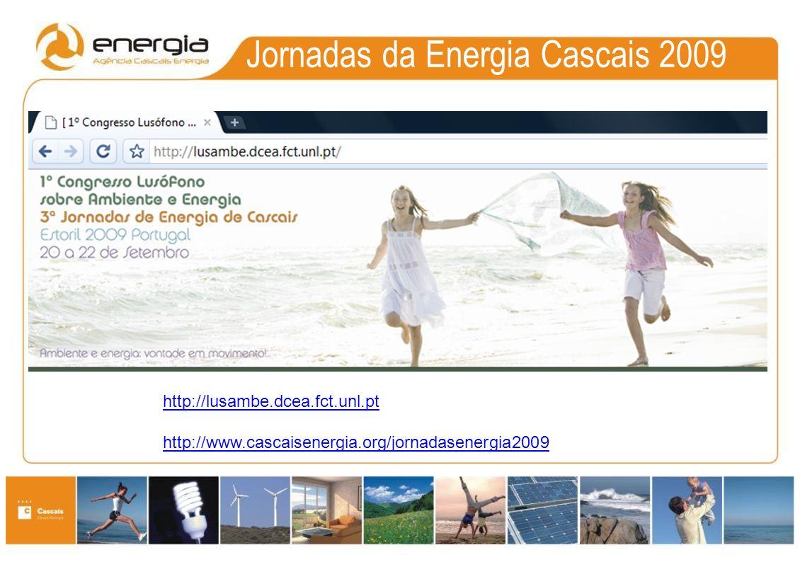 Certificação e Monitorização de Edifícios Públicos Municipais em Cascais 3ªs Jornadas da Energia Cascais 2009 I Congresso Lusófono de Ambiente e Energia Estoril, 21 Setembro 2009