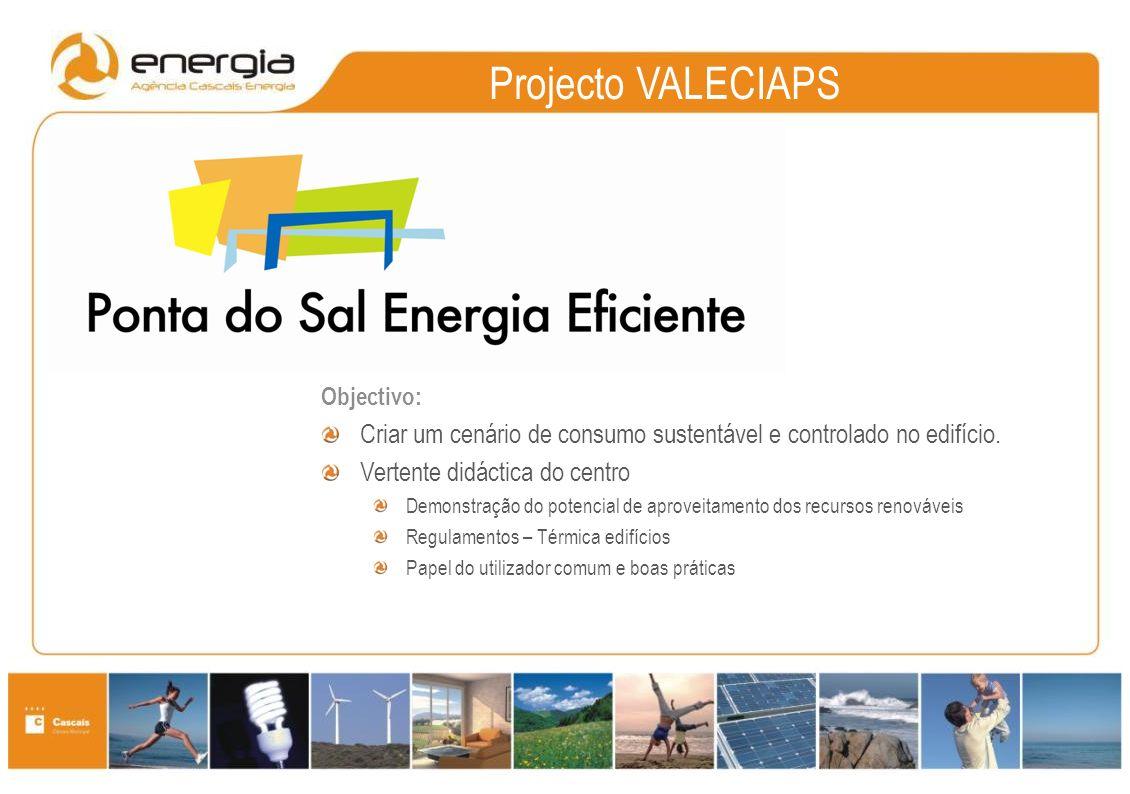 Projecto VALECIAPS Objectivo: Criar um cenário de consumo sustentável e controlado no edifício.