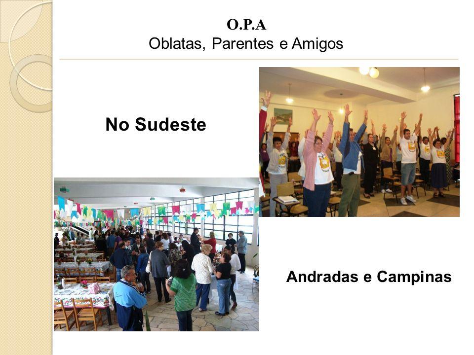 No Sudeste Andradas e Campinas O.P.A Oblatas, Parentes e Amigos