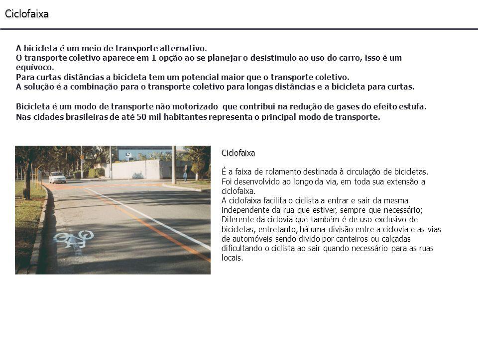 Comparativo entre modos de transporte Tabela comparativa de diversos modos de transporte em relação ao automóvel individual desde o ponto de vista ecológico para igual deslocamento - pessoas/km.