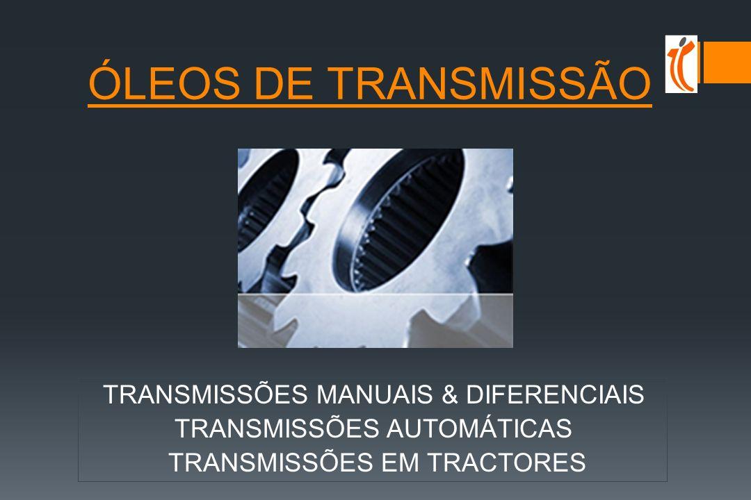 5W/10W-30/40 sintéticos MB 228.5, MAN M 3277, ACEA E4 10W/40 semi-sintéticos MB 229.1, MAN M 3275, ACEA E5, E7 15W-40 minerais MB 228.1, MAN 271, ACEA E2 ÓLEOS TRACÇÃO PESADA segmentação mercado