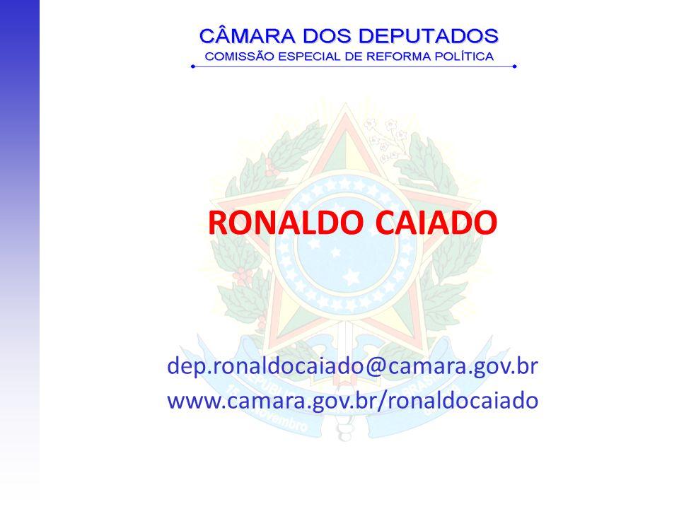 dep.ronaldocaiado@camara.gov.br www.camara.gov.br/ronaldocaiado RONALDO CAIADO
