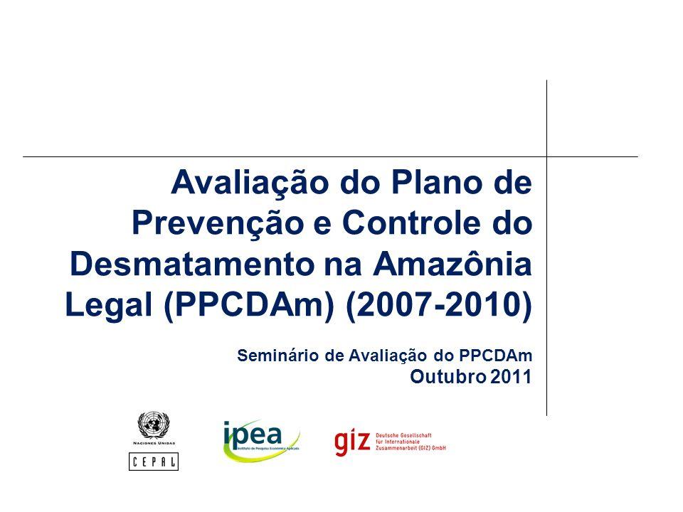 Considerações gerais para o futuro A inclusão do PPCDAm como plano setorial da PNMC definiu o horizonte temporal (2020) e a meta global (redução de 80% do desmatamento) do plano 1/3 do período de implementação já transcorreu É necessário definir e planejar a próxima fase do PPCDAm, em consonância com as metas intermediárias da PNMC Esperamos que os insumos e recomendações gerados possam subsidiar o replanejamento e monitoramento, servindo também de base para futuras avaliações