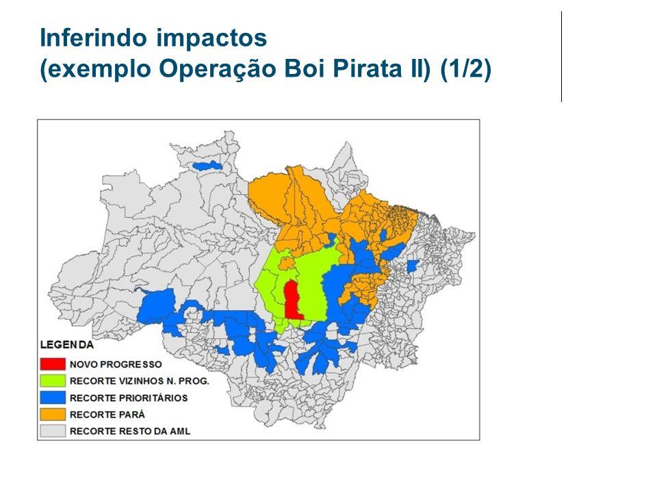 Inferindo impactos (exemplo Operação Boi Pirata II) (1/2)