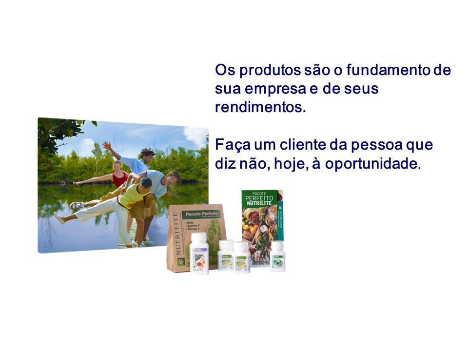 Os produtos são o fundamento de sua empresa e de seus rendimentos. Faça um cliente da pessoa que diz não, hoje, à oportunidade.