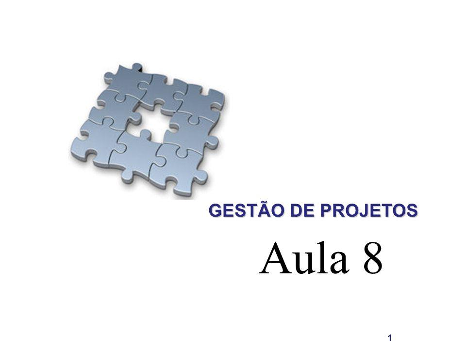 GESTÃO DE PROJETOS 1 Aula 8