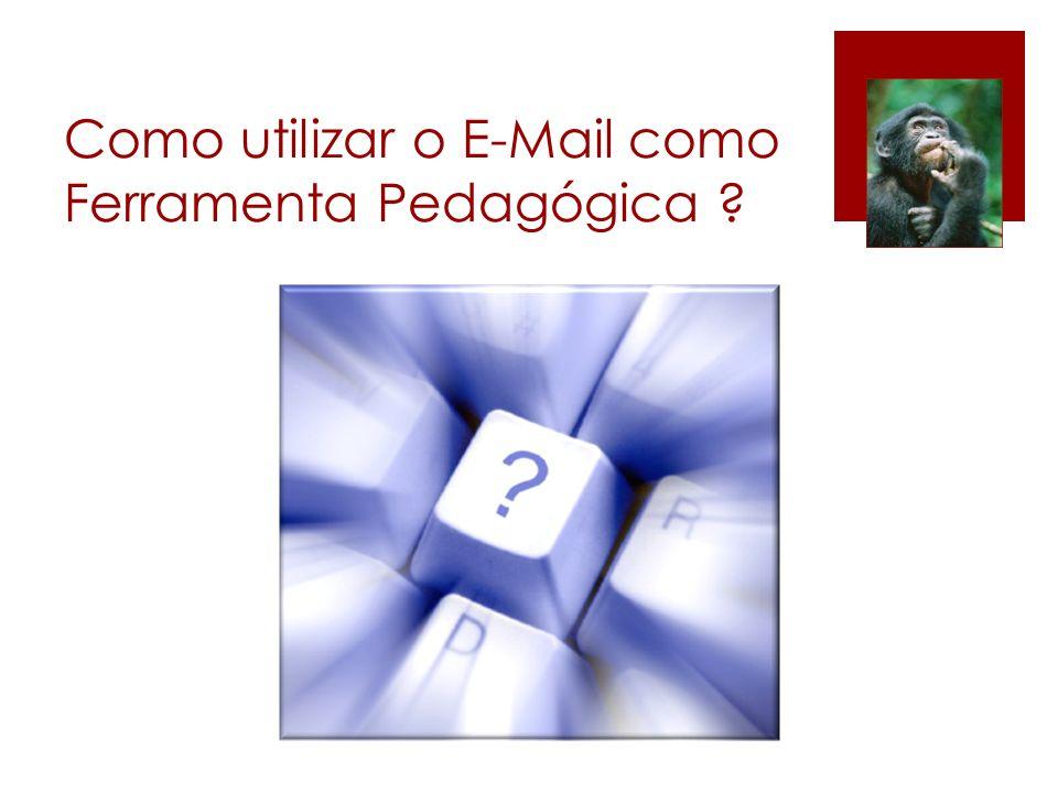 Como utilizar o E-Mail como Ferramenta Pedagógica ?