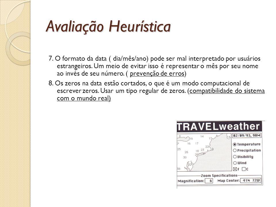 Avaliação Heurística 7.