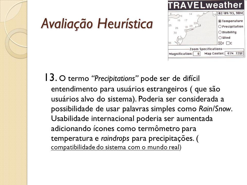 Avaliação Heurística 13.