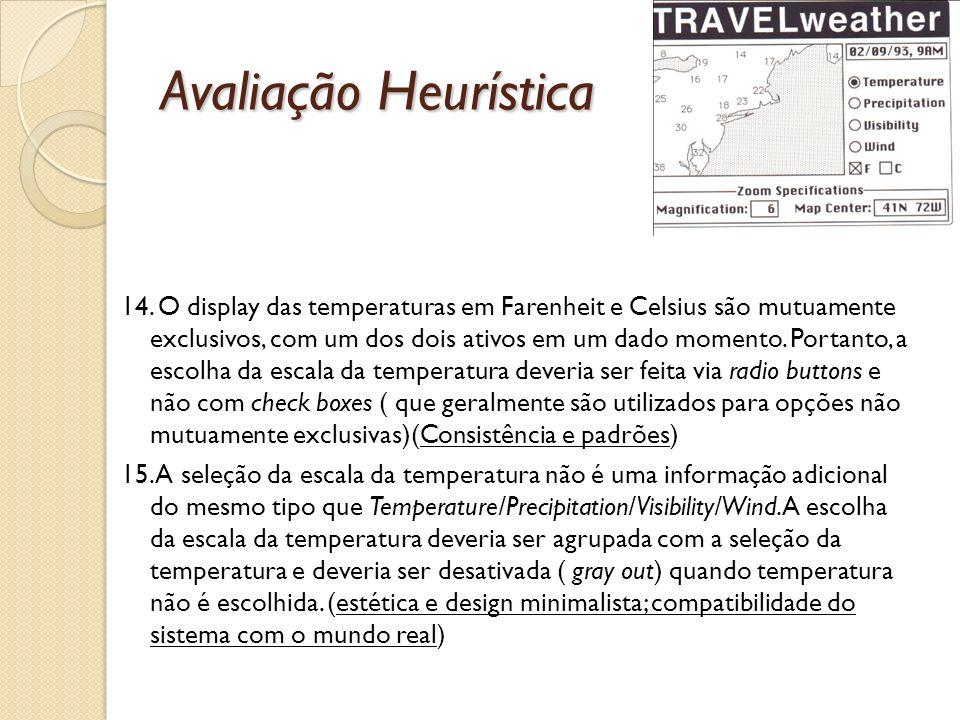 Avaliação Heurística 14.