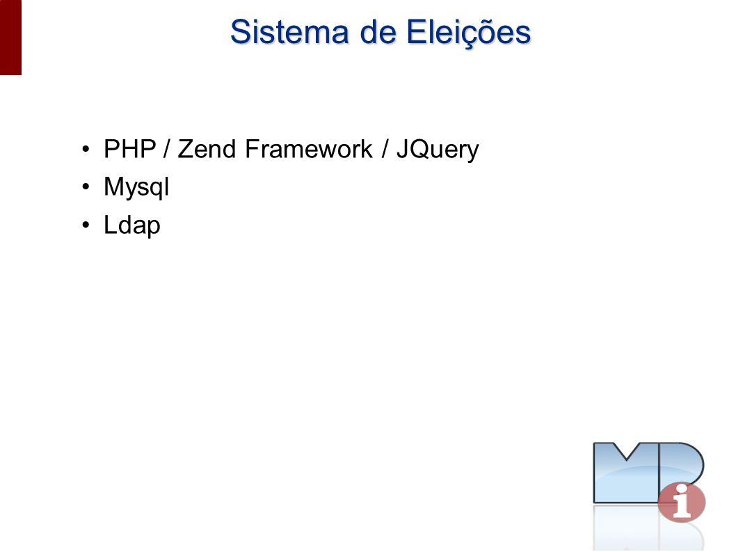 Sistema de Eleições PHP / Zend Framework / JQuery Mysql Ldap