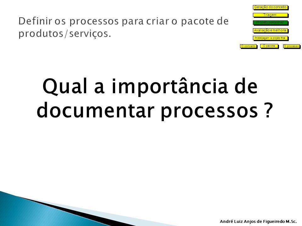 André Luiz Anjos de Figueiredo M.Sc.Qual a importância de documentar processos .