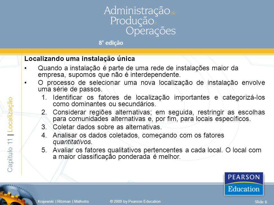 Posicionar-se atrás da demanda Krajewski   Ritzman   Malhotra© 2009 by Pearson Education Slide 17 Capítulo 1   Administração das restrições Expansão de capacidade – Estratégia de esperar para ver