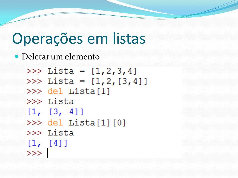 Exercício Na lista a seguir: L = [1,2,3,[a, b, c],4, [5,6]] 1.