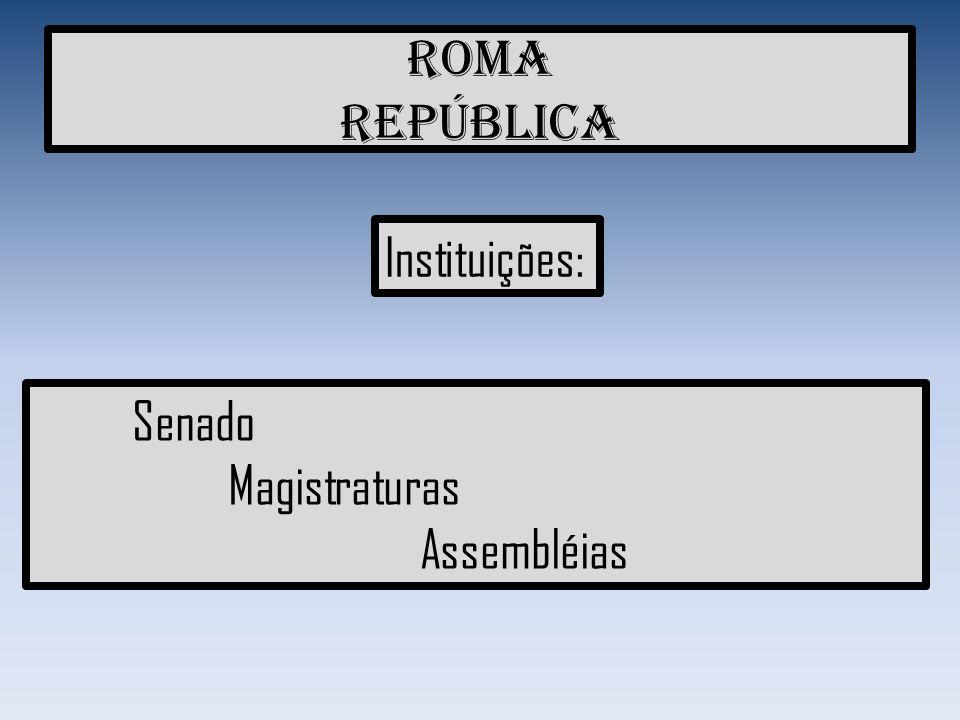 Senadores Cargo vitalício, Cuidavam da política externa (com outras civilizações) Comando do Exército