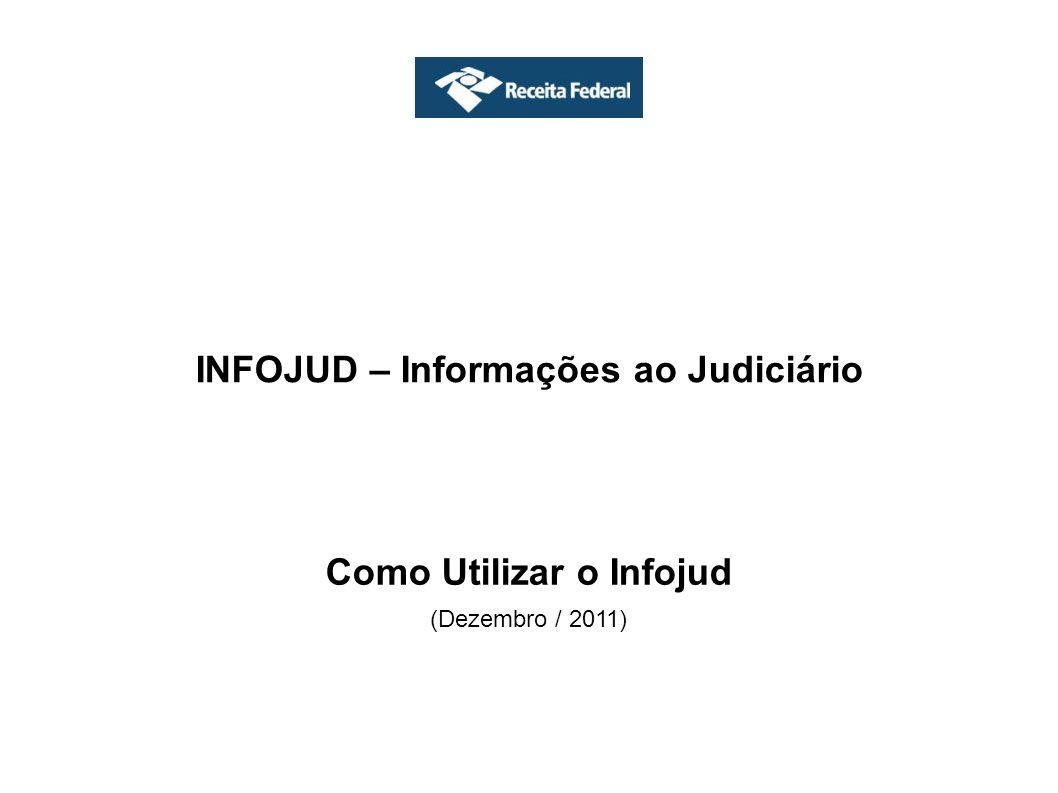 Outras funções disponíveis no Menu do Infojud Manuais É possível visualizar o Manual do Infojud, apresentações e informações gerais do sistema.
