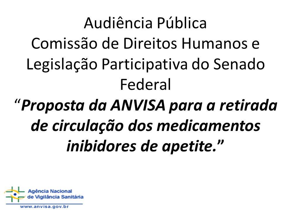 Audiência Pública Comissão de Direitos Humanos e Legislação Participativa do Senado FederalProposta da ANVISA para a retirada de circulação dos medica