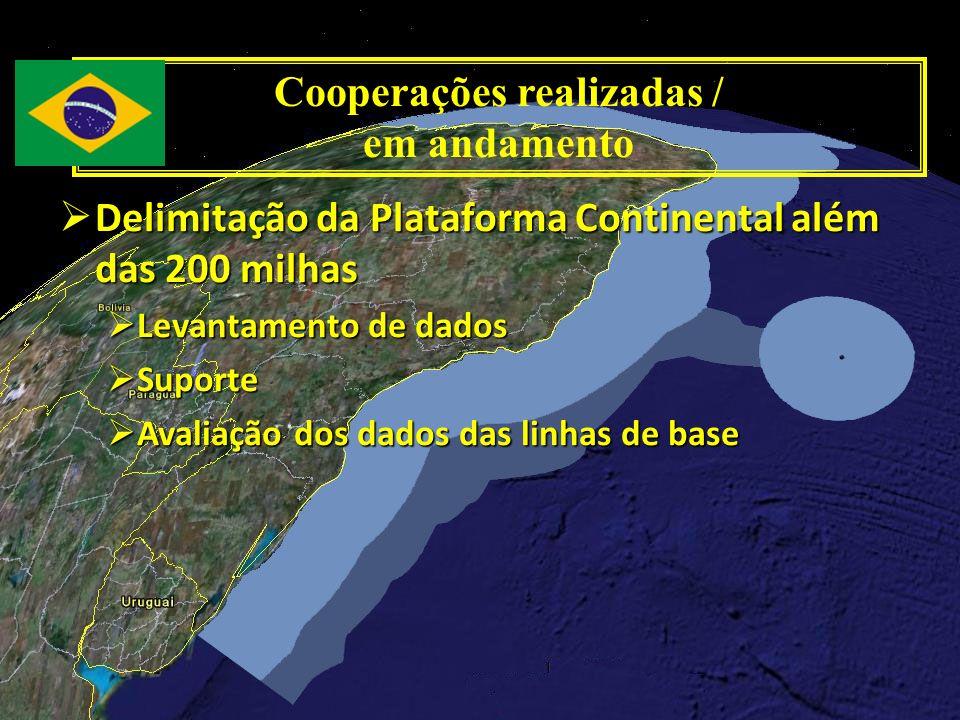 Delimitação da Plataforma Continental além das 200 milhas Delimitação da Plataforma Continental além das 200 milhas Levantamento de dados Levantamento
