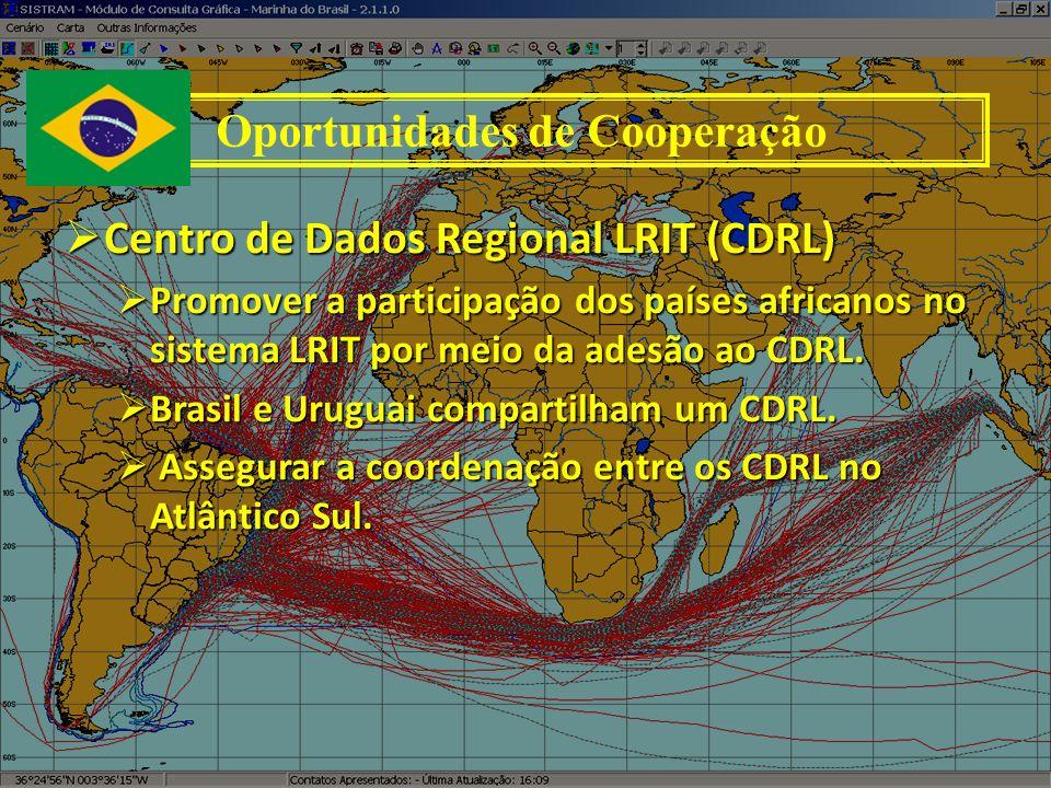 Centro de Dados Regional LRIT (CDRL) Centro de Dados Regional LRIT (CDRL) Promover a participação dos países africanos no sistema LRIT por meio da ade
