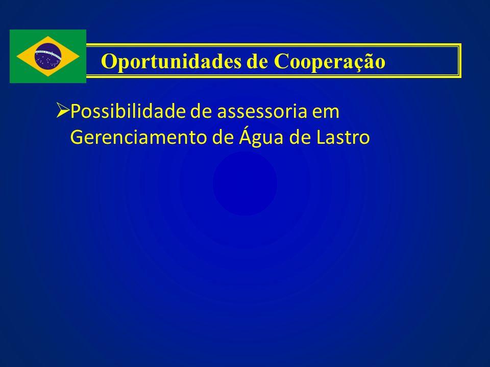 Possibilidade de assessoria em Gerenciamento de Água de Lastro Oportunidades de Cooperação