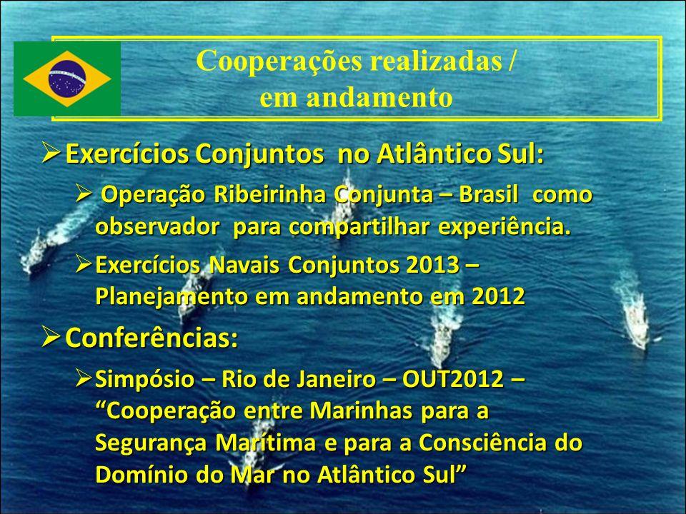 Exercícios Conjuntos no Atlântico Sul: Exercícios Conjuntos no Atlântico Sul: Operação Ribeirinha Conjunta – Brasil como observador para compartilhar