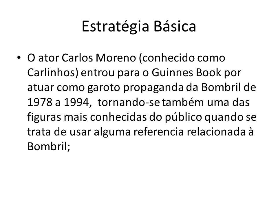 Estratégia Básica O ator Carlos Moreno (conhecido como Carlinhos) entrou para o Guinnes Book por atuar como garoto propaganda da Bombril de 1978 a 199