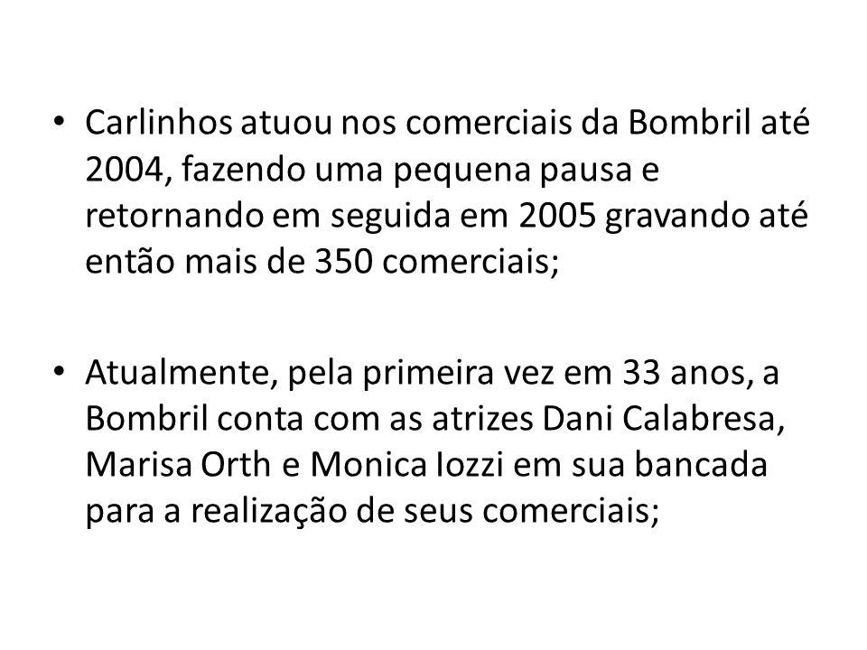 Carlinhos atuou nos comerciais da Bombril até 2004, fazendo uma pequena pausa e retornando em seguida em 2005 gravando até então mais de 350 comerciai