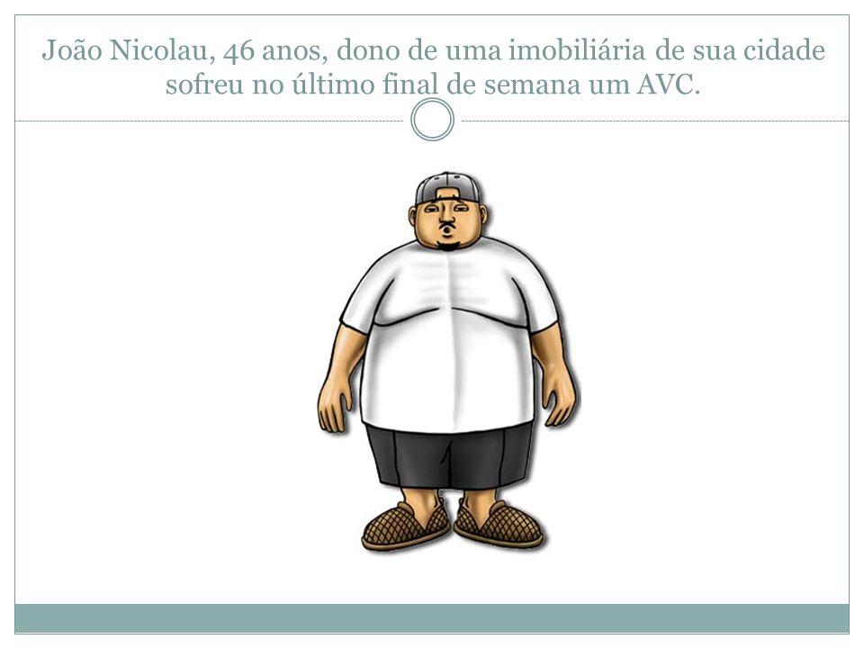 João Nicolau, 46 anos, dono de uma imobiliária de sua cidade sofreu no último final de semana um AVC.