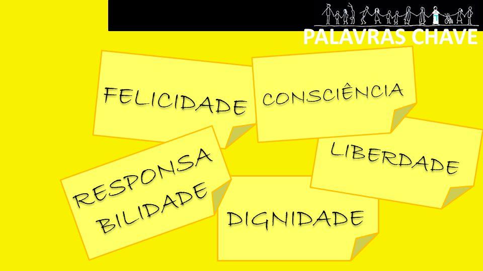 PALAVRAS CHAVE FELICIDADE DIGNIDADE LIBERDADE CONSCIÊNCIA RESPONSA BILIDADE