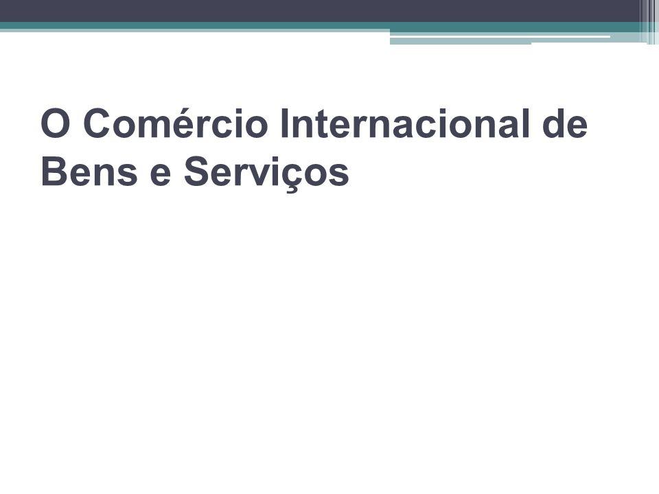 O Comércio Internacional de Bens e Serviços