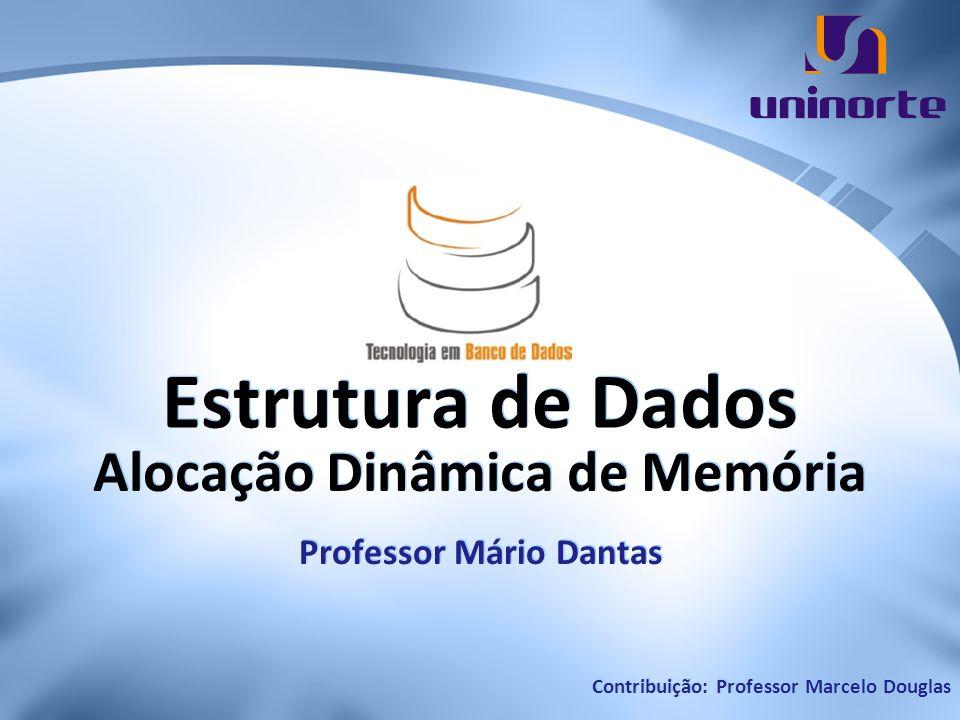 Estrutura de Dados Alocação Dinâmica de Memória Professor Mário Dantas Contribuição: Professor Marcelo Douglas