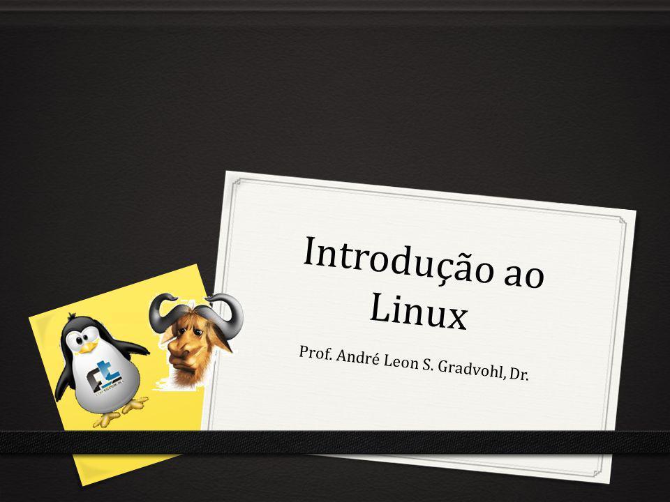 Introdução ao Linux Prof. André Leon S. Gradvohl, Dr.