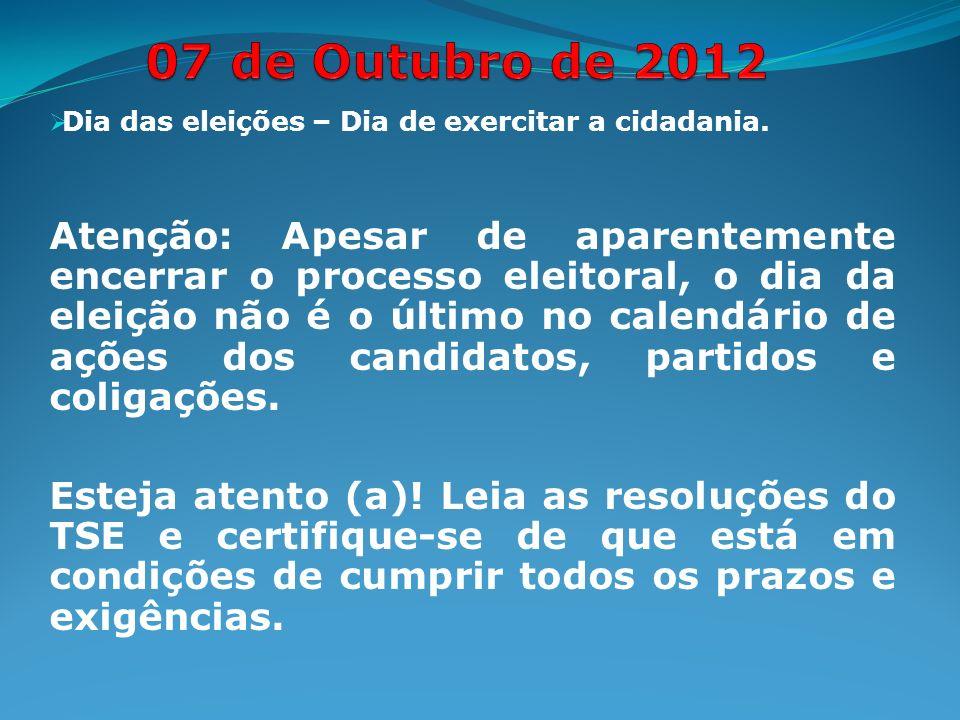 Dia das eleições – Dia de exercitar a cidadania.